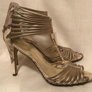 Vince Camuto Strappy Heels with zipper Size 10 EUC